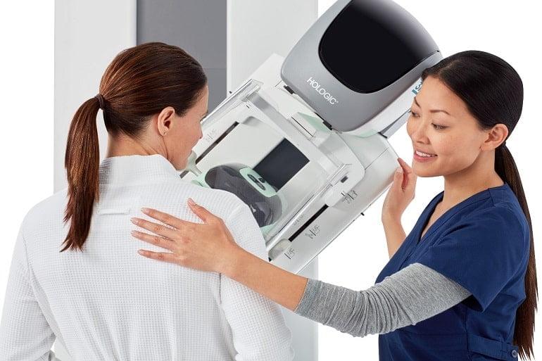 نحوه انجام ماموگرافی